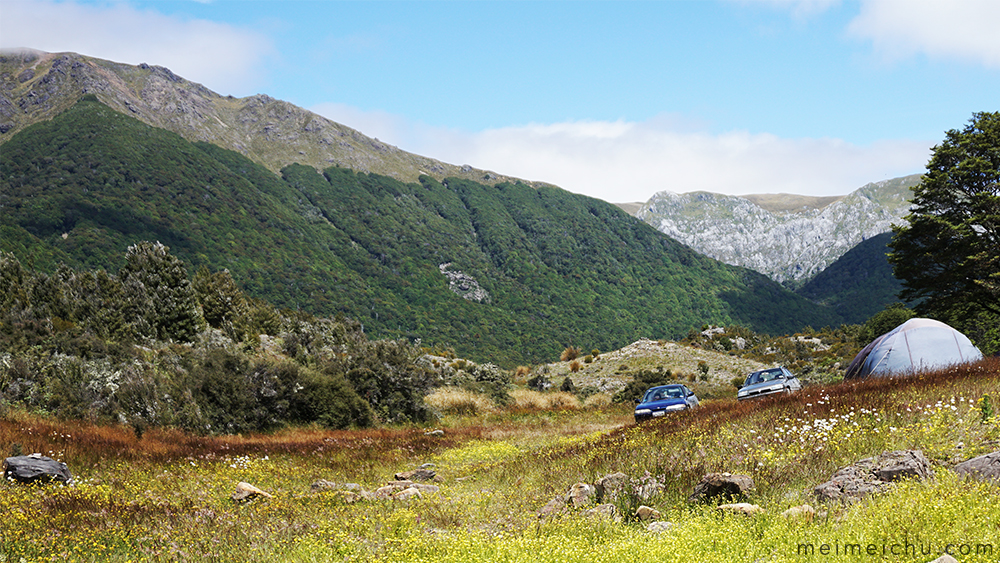 The most breathtaking (and free) accommodation in New Zealand - Cobb Valley DOC campsite.